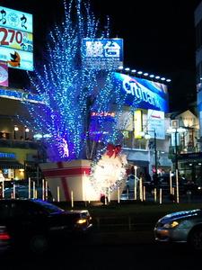 自由が丘駅前 クリスマスツリー