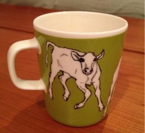 マリメッコ 牛柄 マグカップ