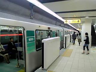 市営地下鉄 日吉駅ホーム