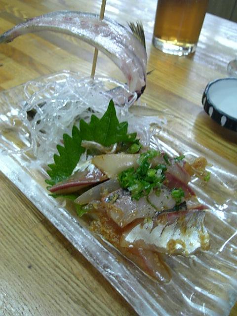 沼津漁港 せきの アジ刺身